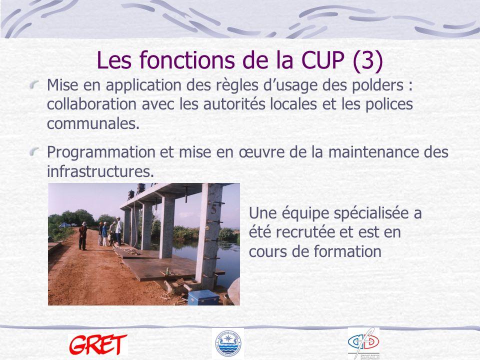 Les fonctions de la CUP (3)