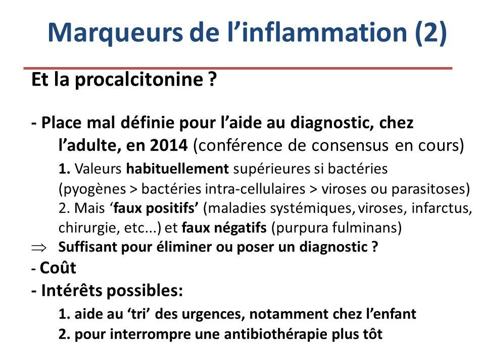 Marqueurs de l'inflammation (2)