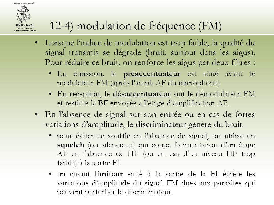 12-4) modulation de fréquence (FM)