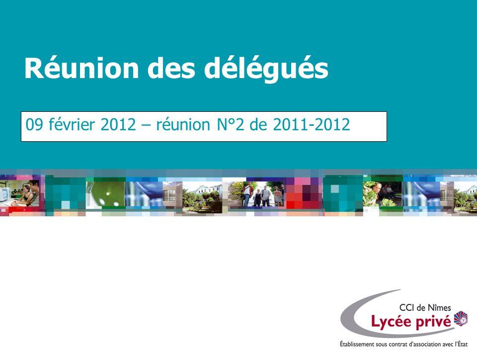 09 février 2012 – réunion N°2 de 2011-2012