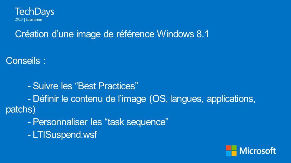 Création d'une image de référence Windows 8.1