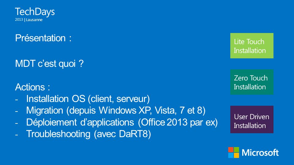 Installation OS (client, serveur)