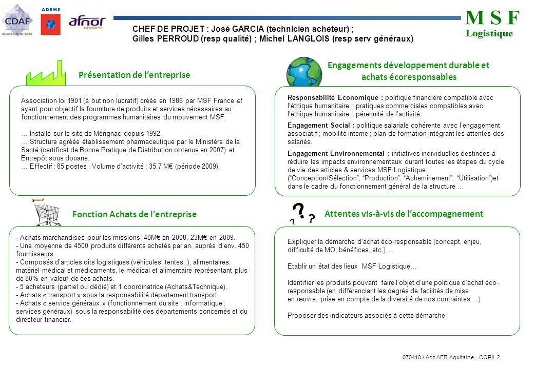 Engagements développement durable et achats écoresponsables