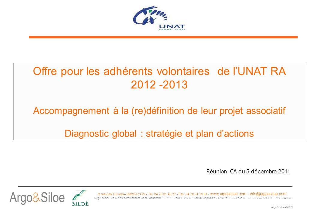 Offre pour les adhérents volontaires de l'UNAT RA 2012 -2013