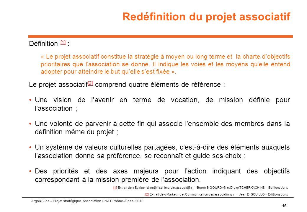 Redéfinition du projet associatif