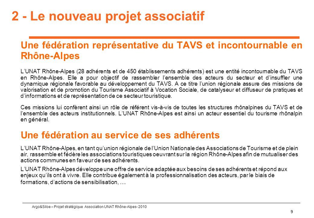 2 - Le nouveau projet associatif