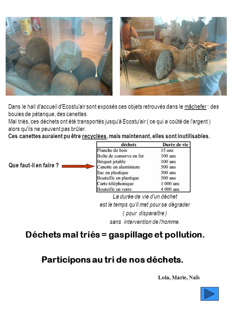 Déchets mal triés = gaspillage et pollution.