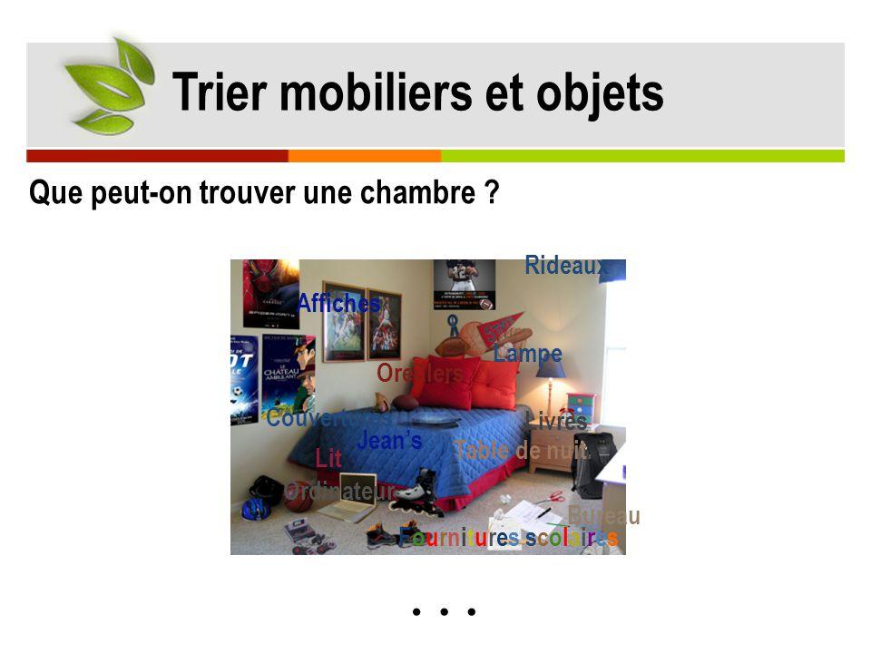 Trier mobiliers et objets