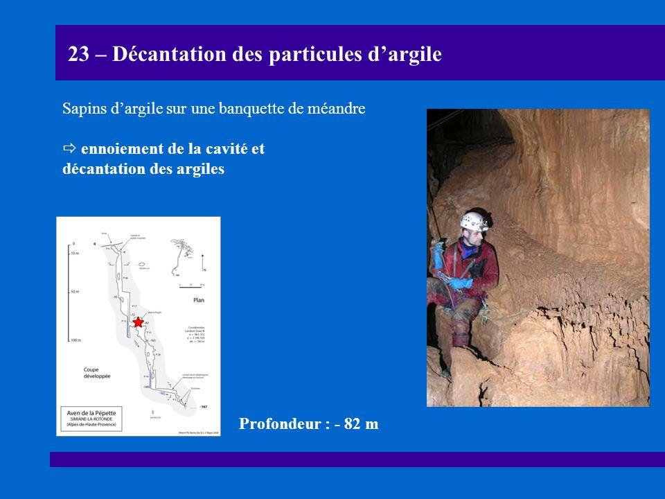 23 – Décantation des particules d'argile