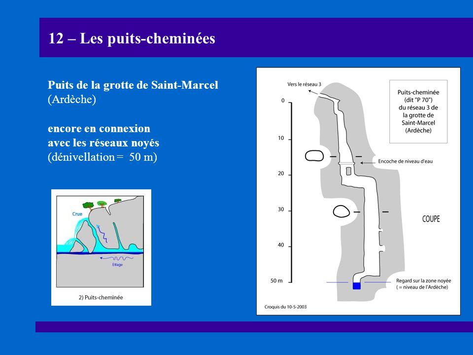 12 – Les puits-cheminées Puits de la grotte de Saint-Marcel (Ardèche)