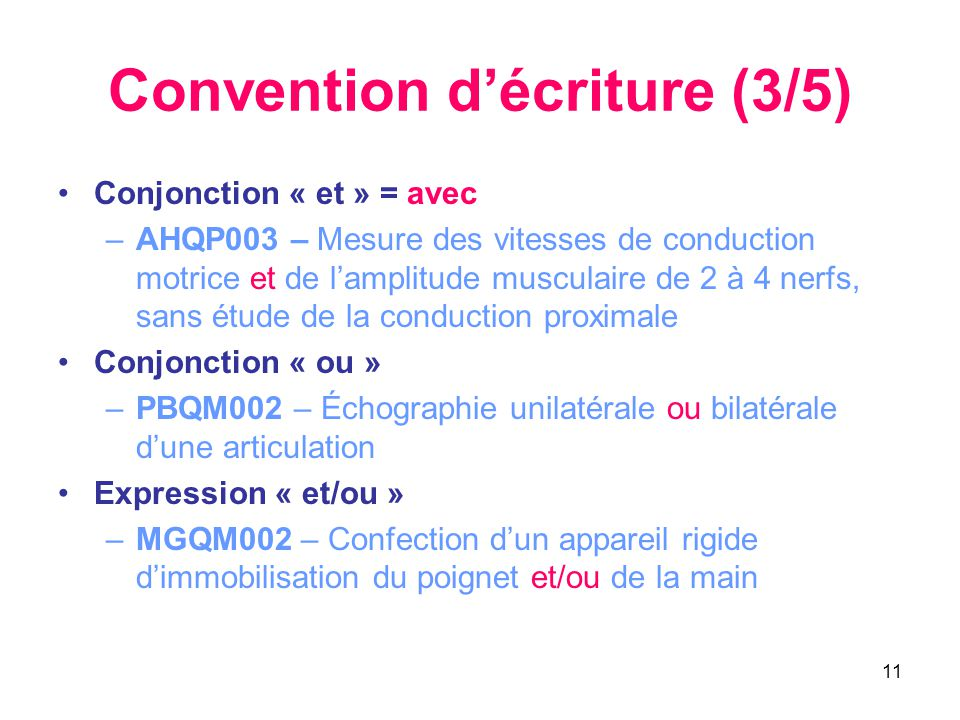 Convention d'écriture (3/5)