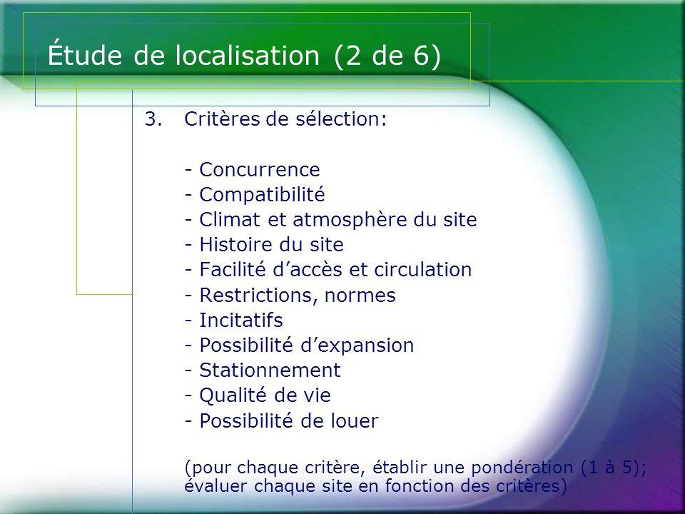 Étude de localisation (2 de 6)