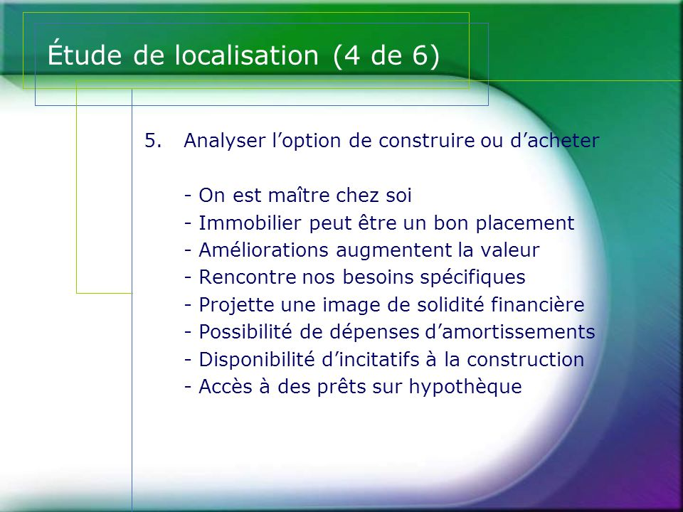 Étude de localisation (4 de 6)