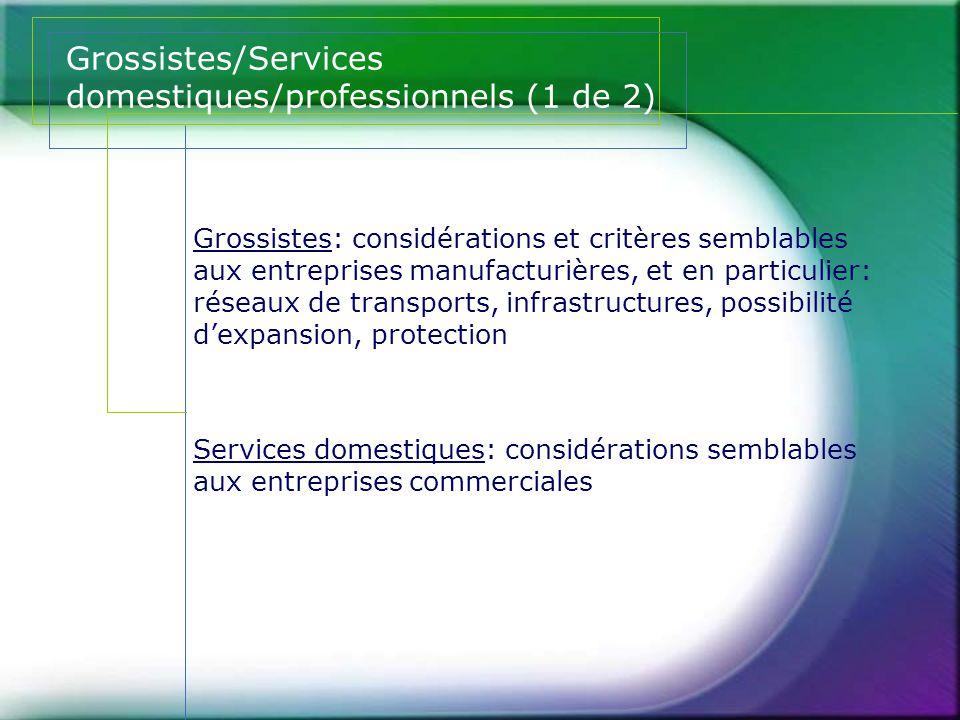 Grossistes/Services domestiques/professionnels (1 de 2)