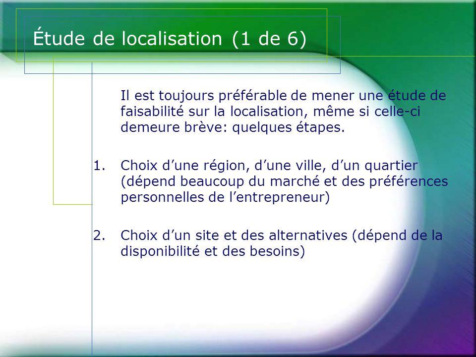Étude de localisation (1 de 6)