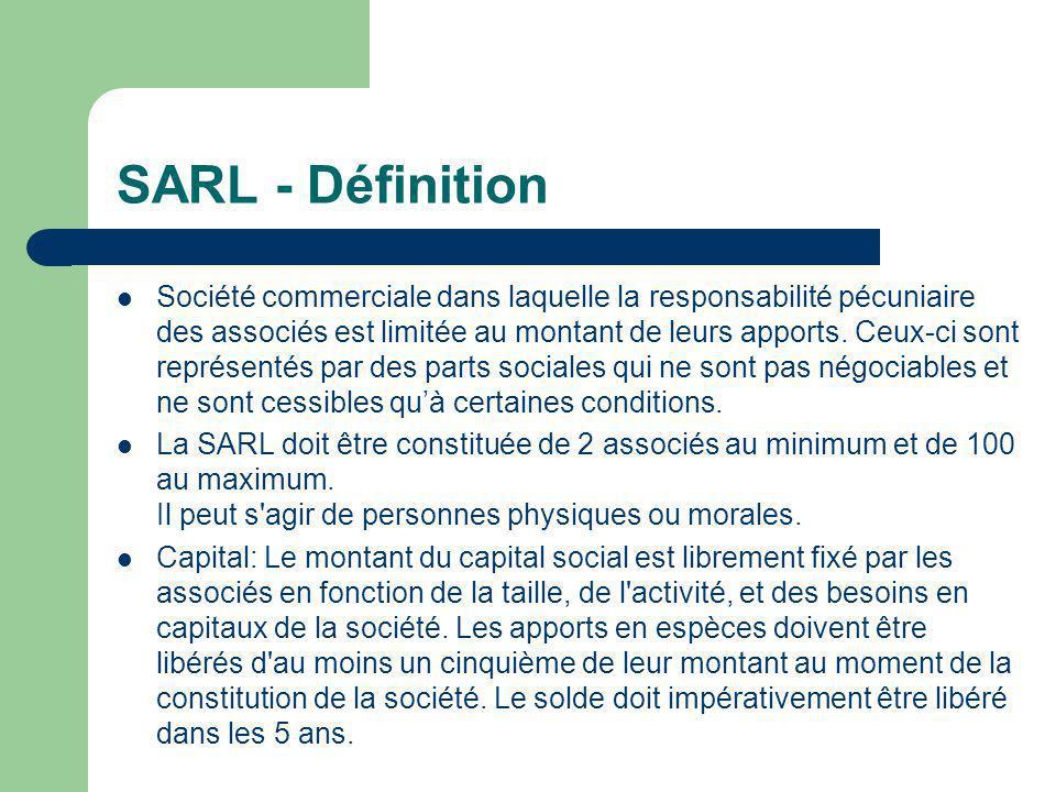 SARL - Définition
