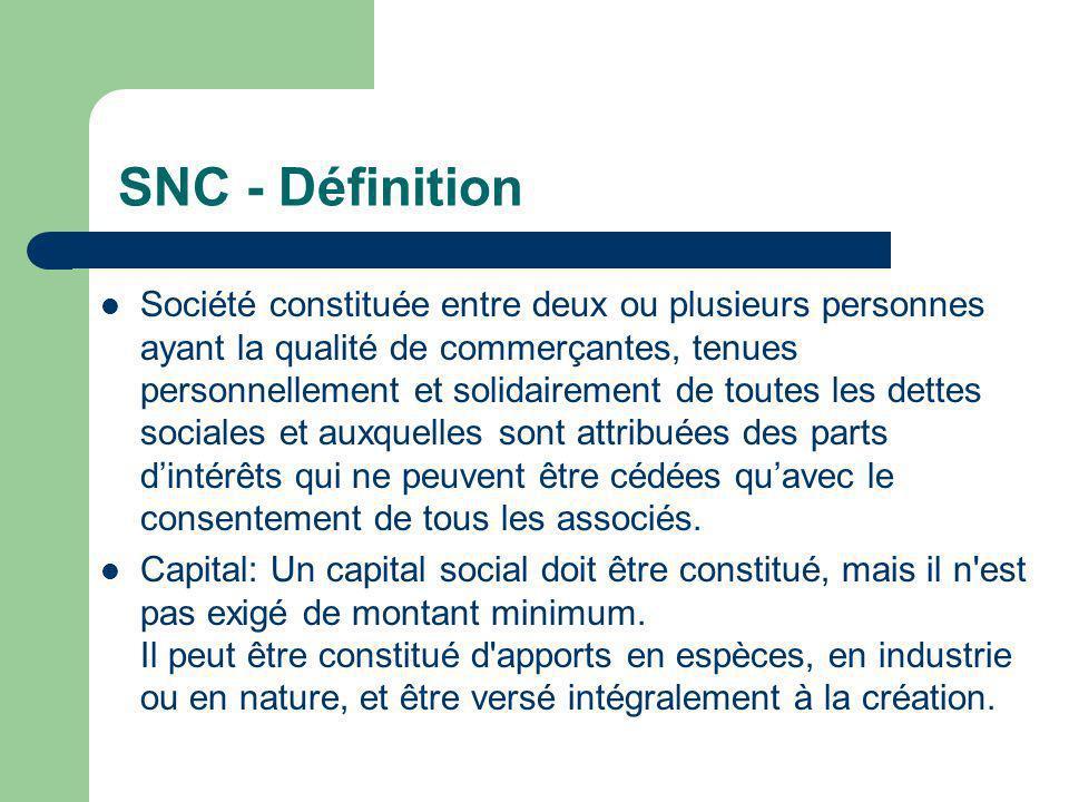 SNC - Définition