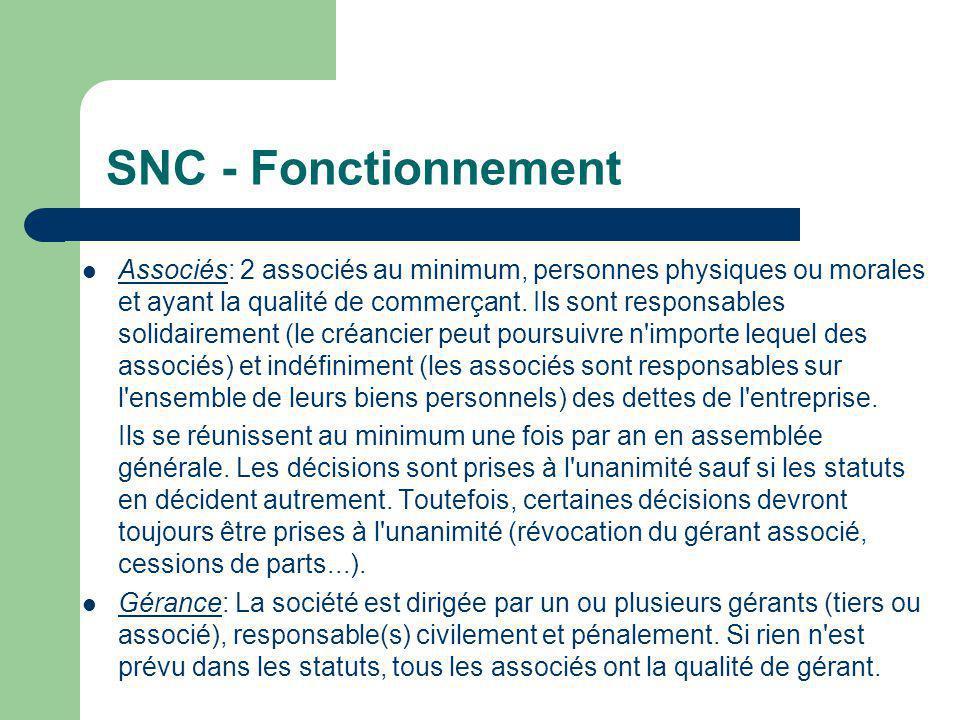 SNC - Fonctionnement