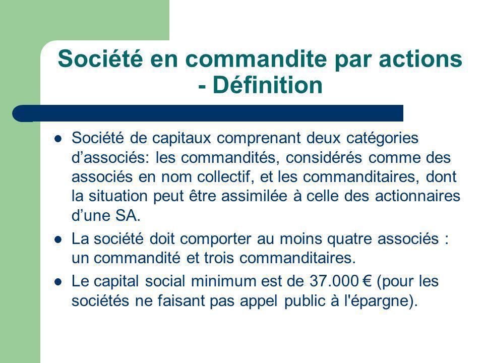 Société en commandite par actions - Définition