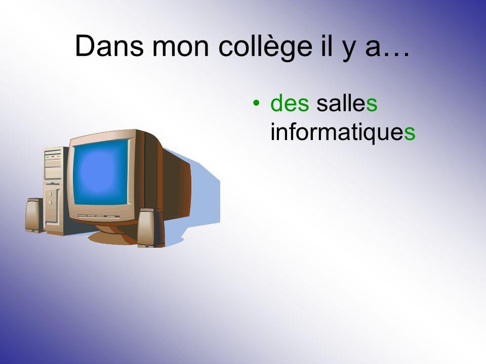 Dans mon collège il y a… des salles informatiques
