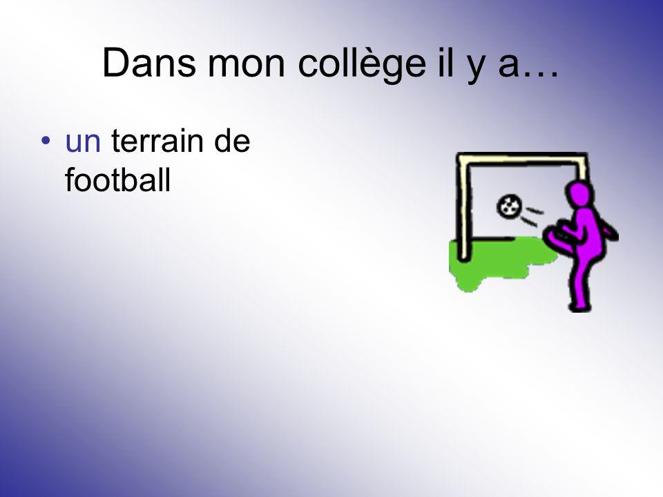 Dans mon collège il y a… un terrain de football