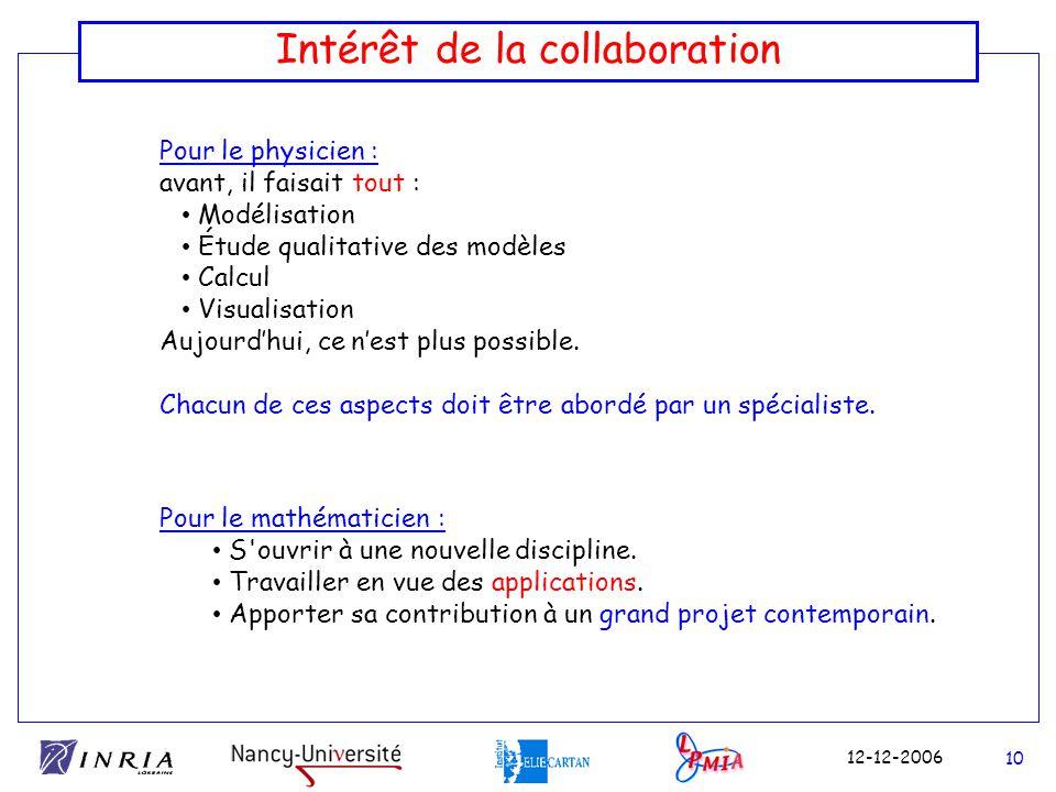 Intérêt de la collaboration
