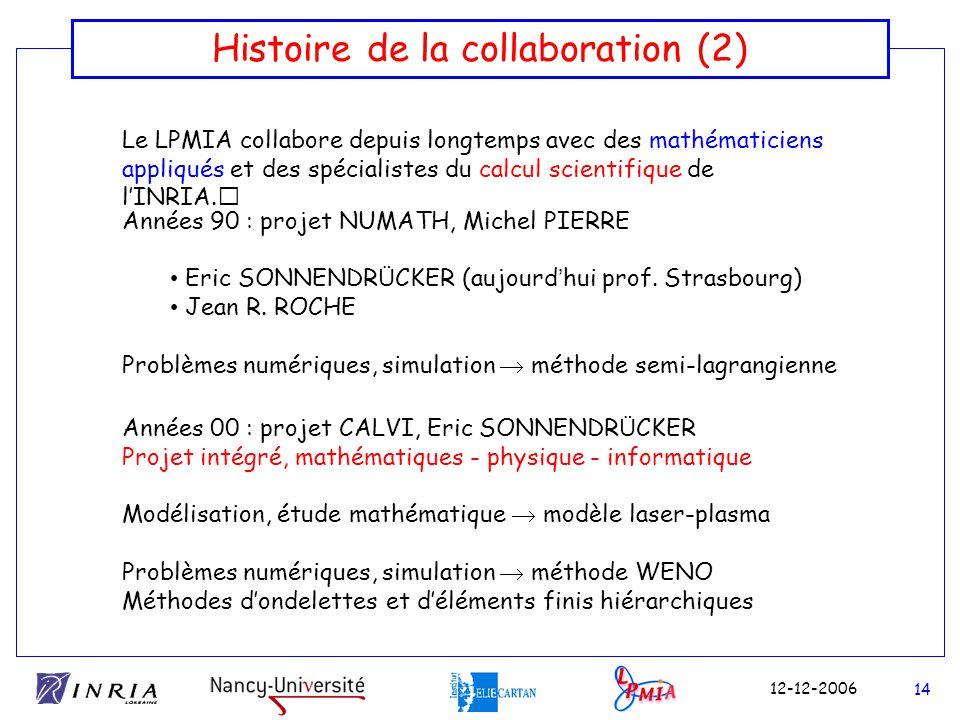 Histoire de la collaboration (2)