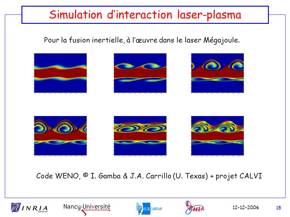 Simulation d'interaction laser-plasma