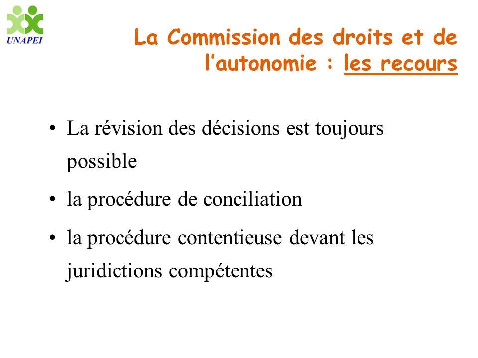 La Commission des droits et de l'autonomie : les recours