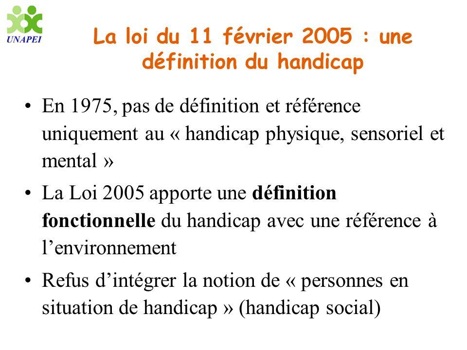 La loi du 11 février 2005 : une définition du handicap