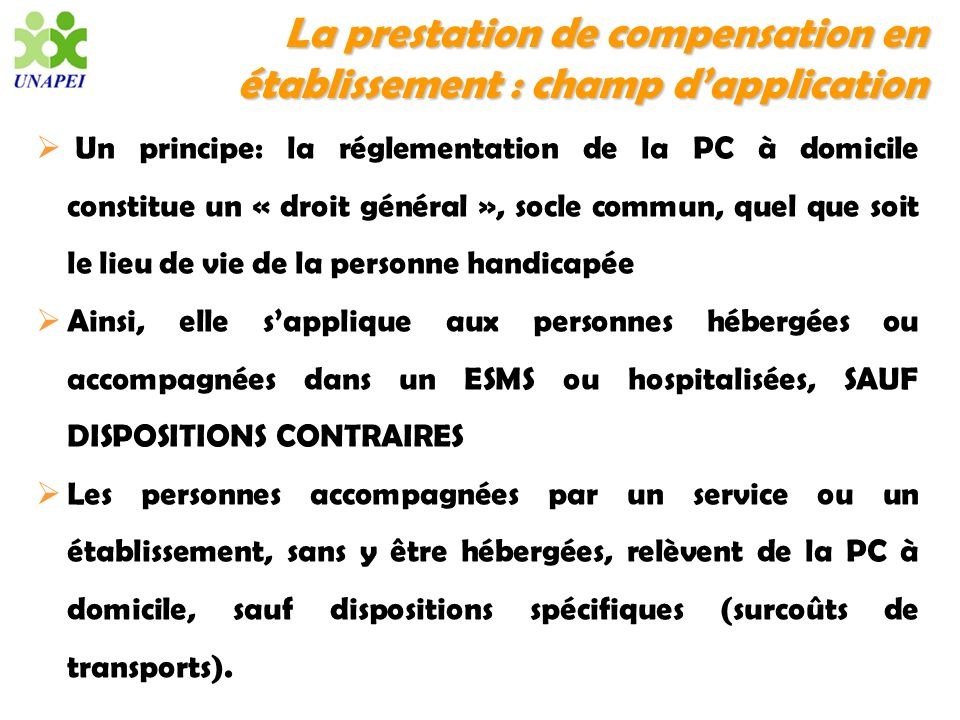 La prestation de compensation en établissement : champ d'application