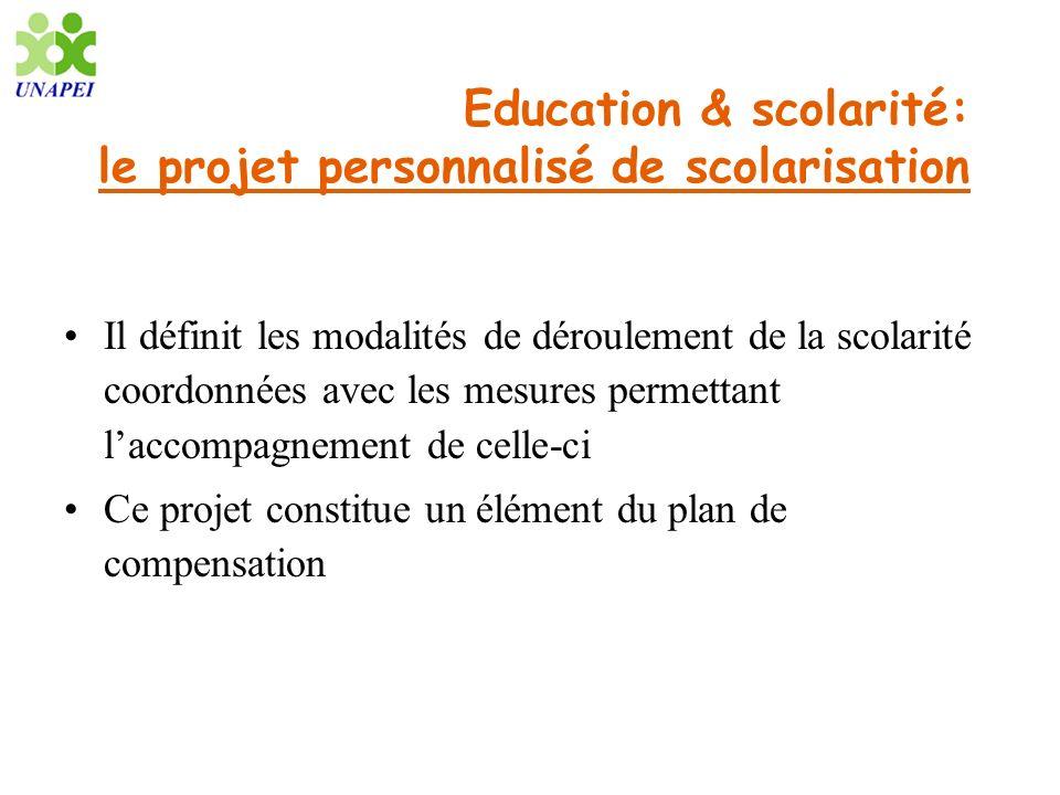 Education & scolarité: le projet personnalisé de scolarisation