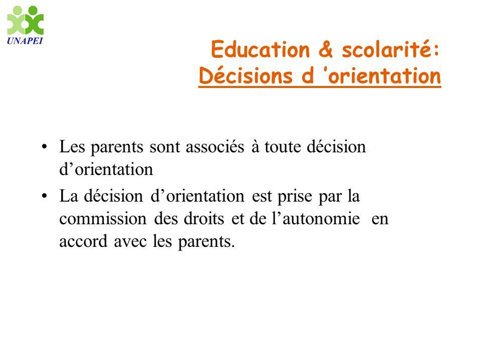 Education & scolarité: Décisions d 'orientation