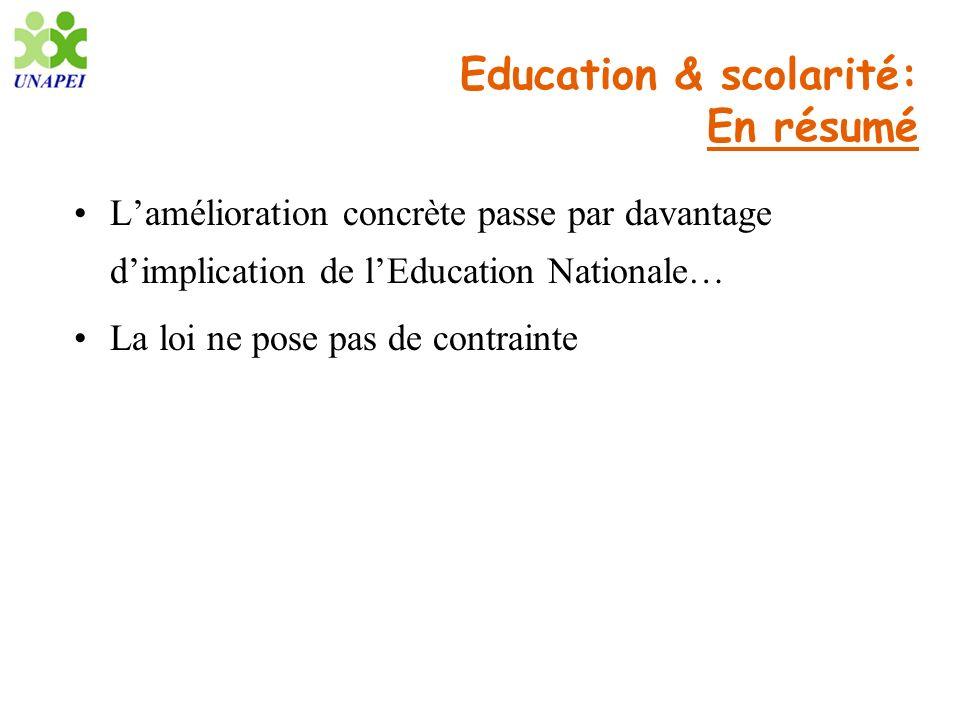 Education & scolarité: En résumé