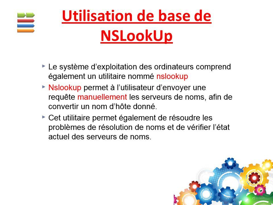 Utilisation de base de NSLookUp