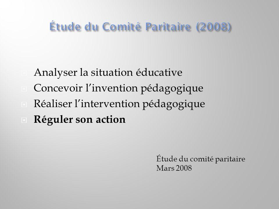 Étude du Comité Paritaire (2008)