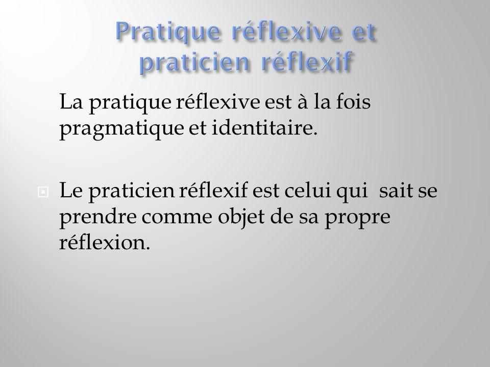 Pratique réflexive et praticien réflexif
