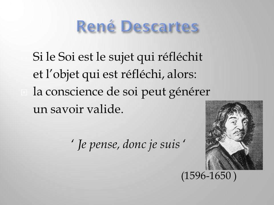 René Descartes Si le Soi est le sujet qui réfléchit