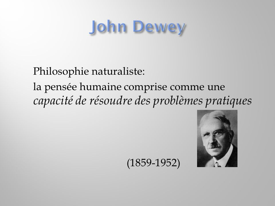 John Dewey Philosophie naturaliste:
