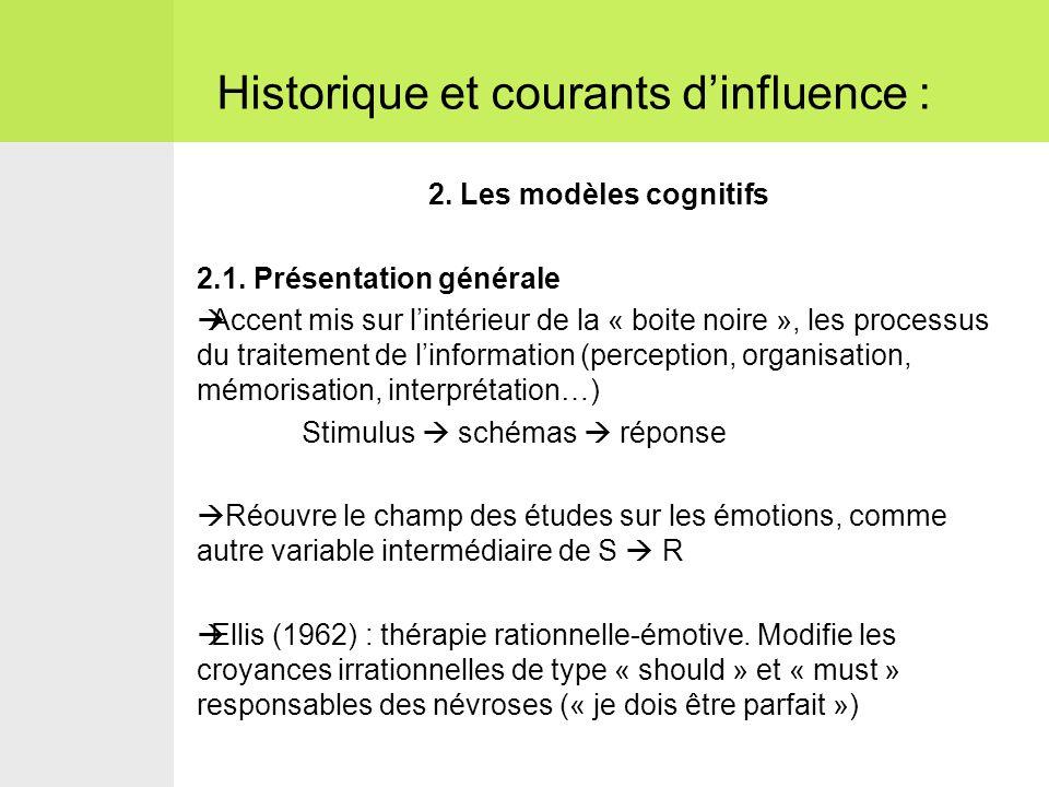Historique et courants d'influence :