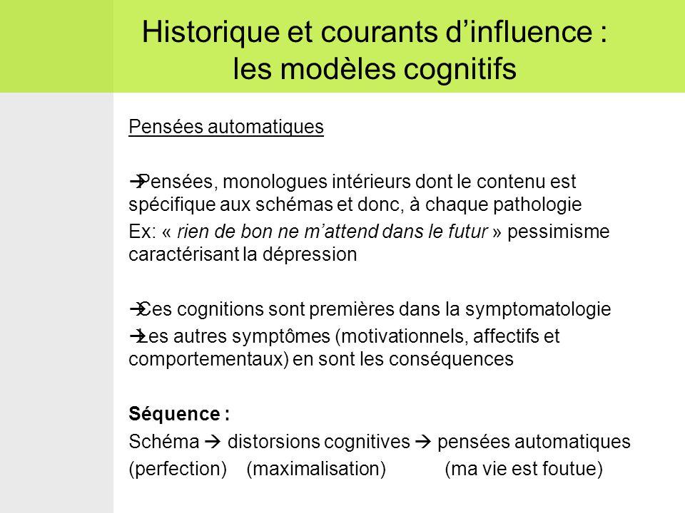 Historique et courants d'influence : les modèles cognitifs