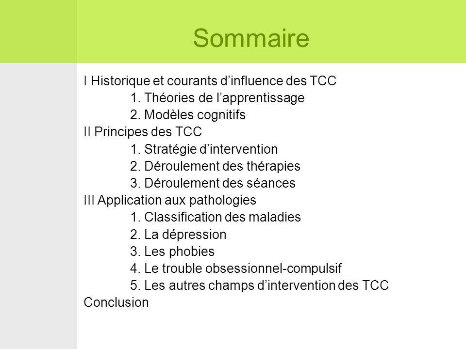 Sommaire I Historique et courants d'influence des TCC