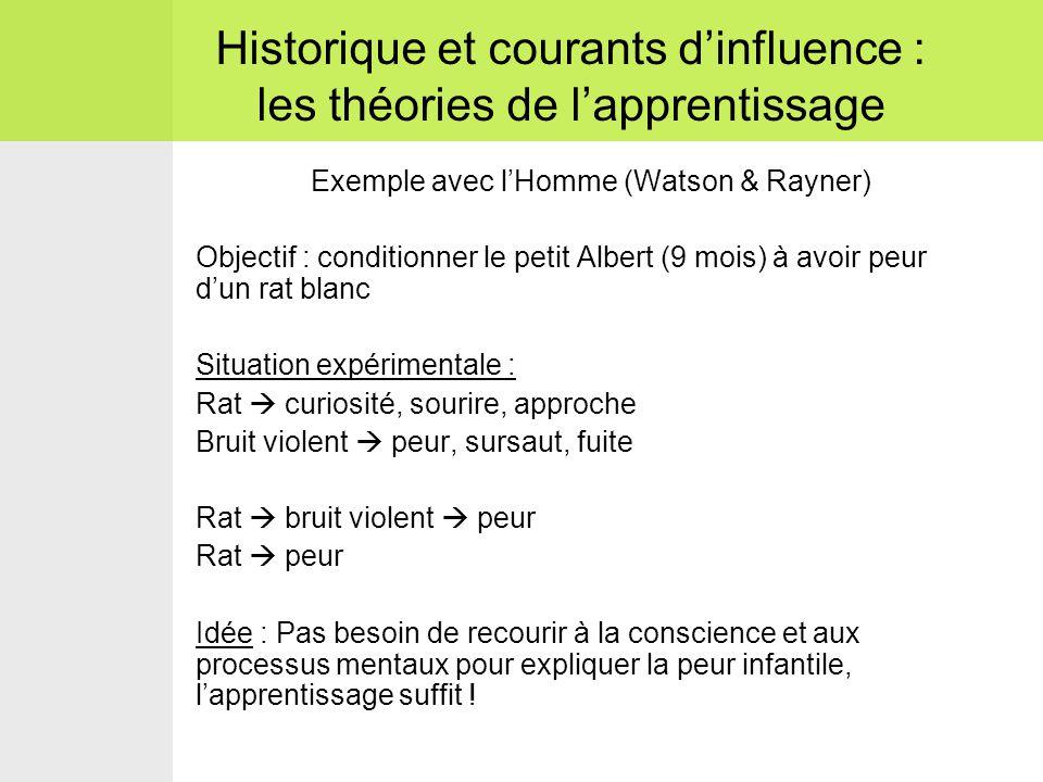 Historique et courants d'influence : les théories de l'apprentissage