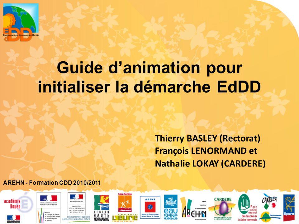 Guide d'animation pour initialiser la démarche EdDD