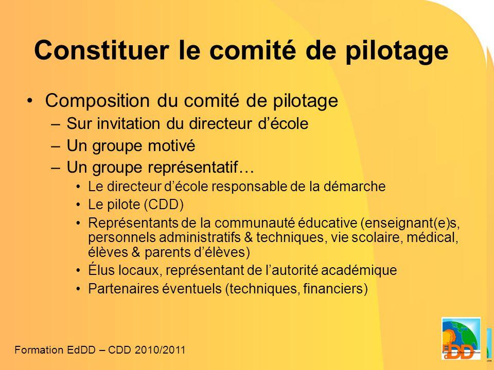 Constituer le comité de pilotage