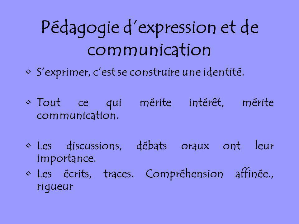 Pédagogie d'expression et de communication