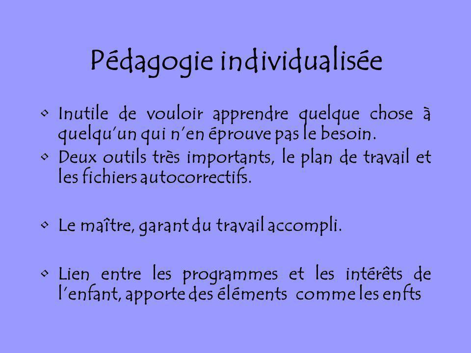 Pédagogie individualisée