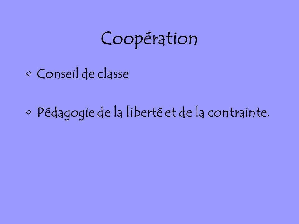 Coopération Conseil de classe