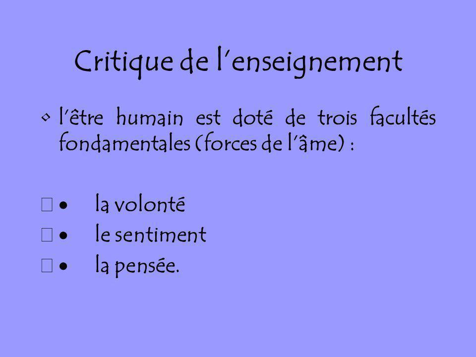 Critique de l'enseignement
