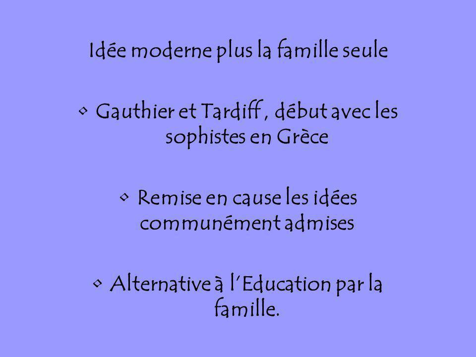 Idée moderne plus la famille seule